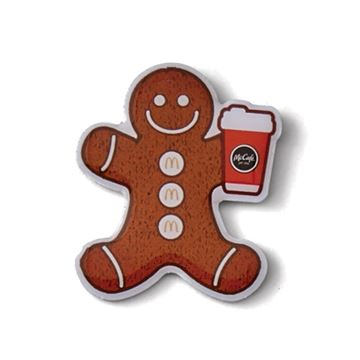 Picture of McCafe Gingerbread Lapel Pin