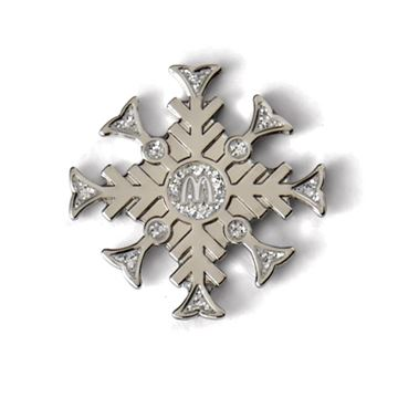 Picture of Silver Snowflake Lapel Pin