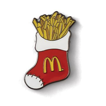 Picture of Stocking with Fries Lapel Pin