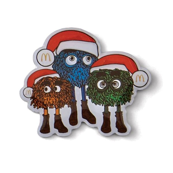 Picture of Fry Guys Santa Hats Lapel Pin