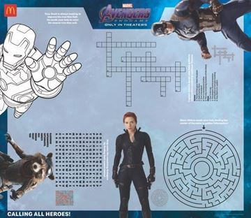 Picture of Avengers Activity Sheet (100/pk)