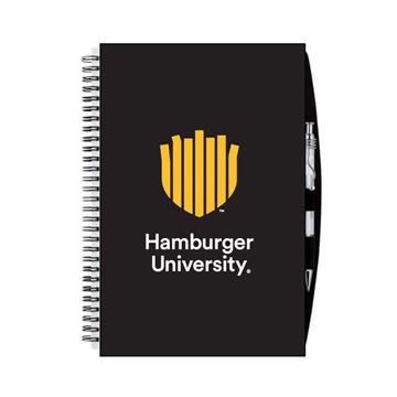 Picture of HU Black Spiral Notebook
