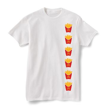 Picture of Stacked Fry Box Icon Graphic Tee