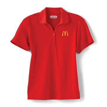 Picture of Ladies' Moreno Red Performance Polo