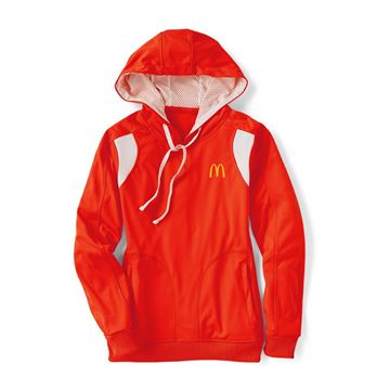 Picture of Ladies' Red Performance Hoodie