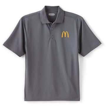 Picture of Men's Moreno Grey Performance Polo
