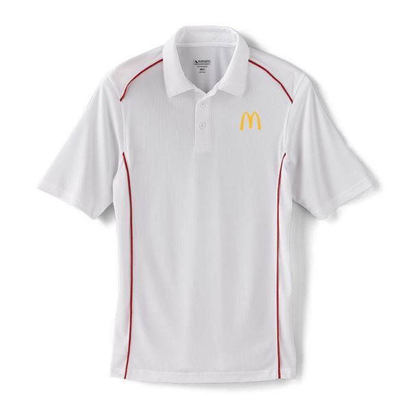 Picture of Men's Augusta® White Piped Performance Polo