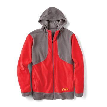 Picture of Men's Red Microfleece Full Zip Hoodie