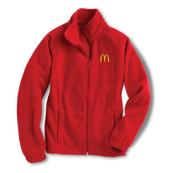 990699178 Men's Harriton® Red Full Zip Fleece Jacket - Smilemakers ...