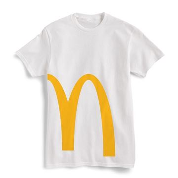 Picture of White Cropped Arches Graphic Tee