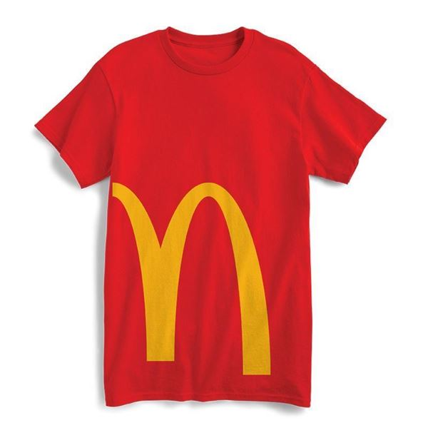 Picture of Red Cropped Arches Graphic Tee