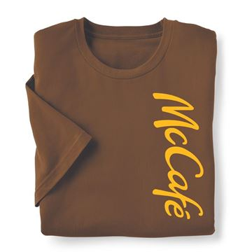 Picture of McCafe Wordmark Brown T-Shirt
