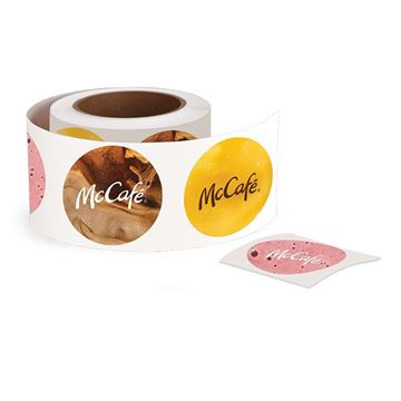 Picture of McCafe Stickers - 500 per Roll