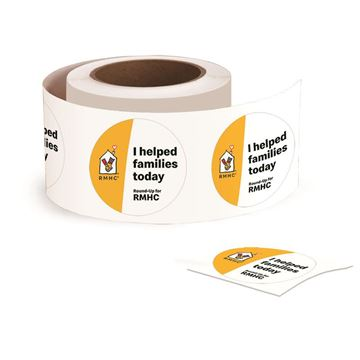 Picture of RMHC Stickers - 500 per Roll