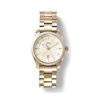 Picture of Men's Fossil Machine Three-Hand Date Gold-Tone Stainless Steel Watch