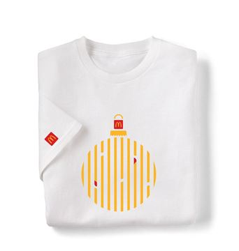 Picture of Dipped Fries Ornament White T-Shirt