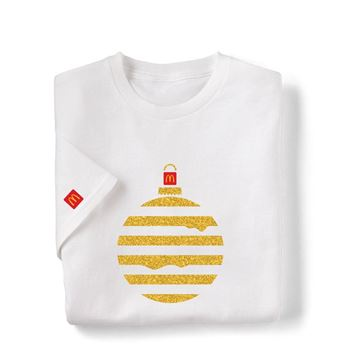 Picture of Melty Cheese Glitter Ornament White T-Shirt