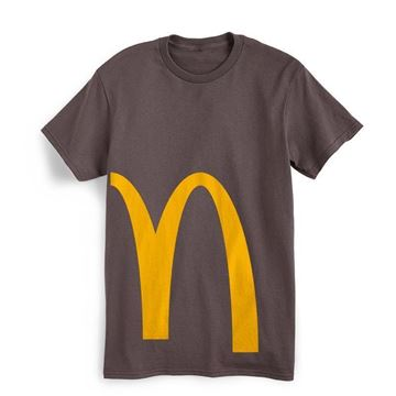 Picture of Grey Cropped Arches Graphic Tee