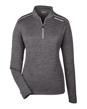 Picture of Ladies' Grey Performance 1/4 Zip Pullover