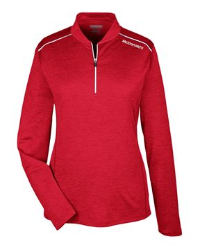 Picture of Ladies' Red Performance 1/4 Zip Pullover