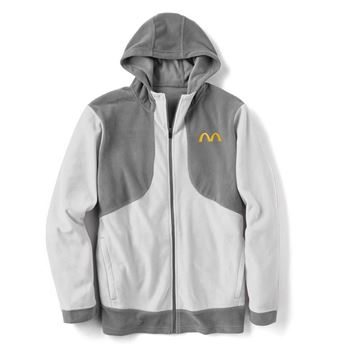 Picture of Men's Grey Microfleece Full Zip Hoodie