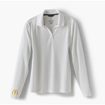 Picture of Men's White Arches Long Sleeve Polo