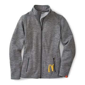 Picture of Ladies' Digi Stripe Grey Fleece