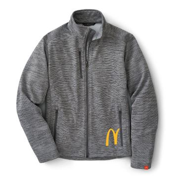 Picture of Men's Digi Stripe Grey Fleece
