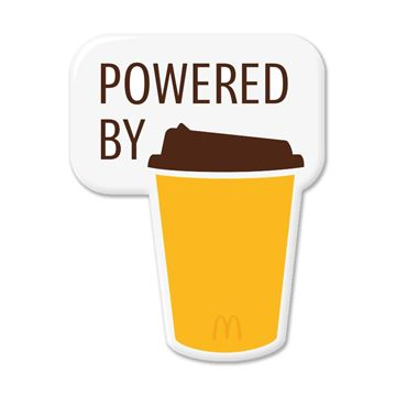 Picture of Powered By Mccafe Pin
