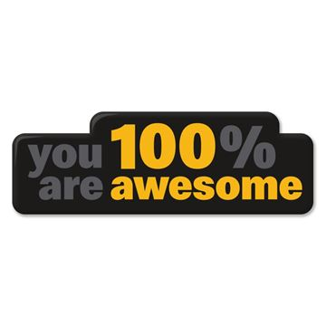 Picture of 100% Awesome Lapel Pin