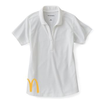 Picture of Ladies' White Performance Pique Polo