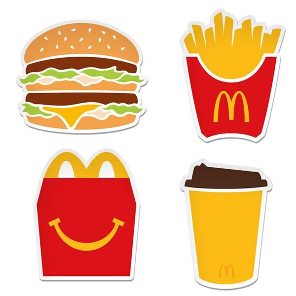 Picture of 2 x 3 Food Icon Stickers