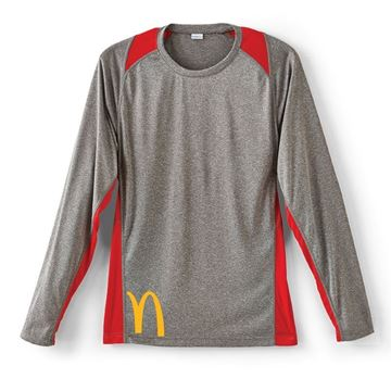 Picture of Men's Red Long Sleeve Colorblock Pullovers
