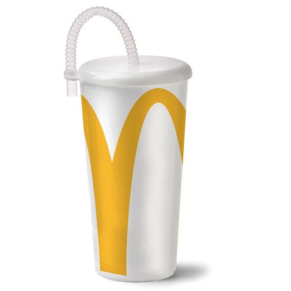 Picture of Arches Cup With Clear Straw