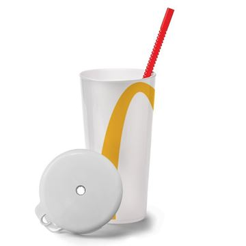 Picture of Arches Cup With Red Straw