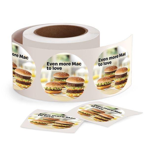 Picture of Big Mac Stickers - 500 per Roll