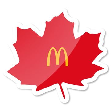 Picture of Canadian Leaf Arches Pin