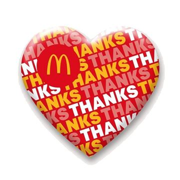 Picture of Thanks Heart Lapel Pin
