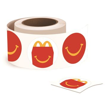 Picture of Happy Smile Stickers - 500 per Roll