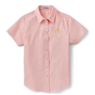Picture of  Ladies' Pink Short Sleeve Button Down