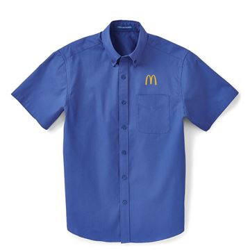 Picture of  Men's Blue Short Sleeve Button Down