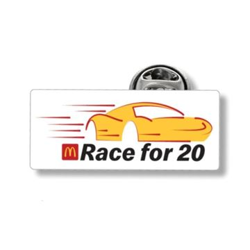 Picture of Race for 20 Lapel Pin