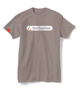 """Picture of Our Values """"Inclusion"""" T-Shirt"""