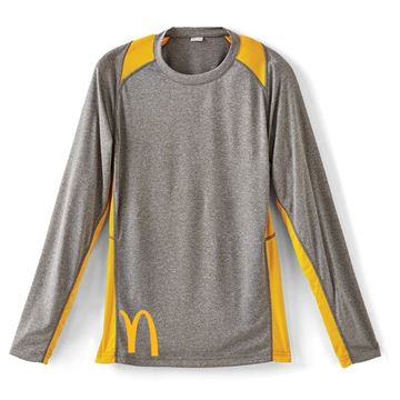 Picture of Men's Gold Long Sleeve Colorblock Pullovers