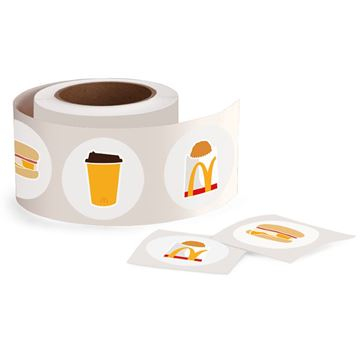 Picture of Breakfast Item Icon Stickers - 500 per Roll