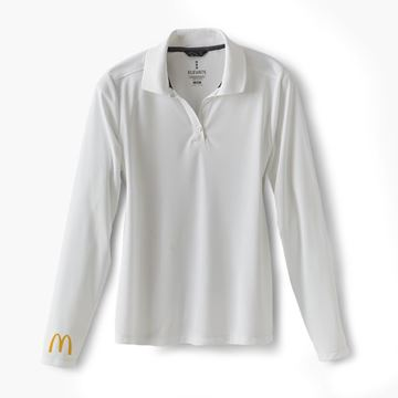 Picture of Ladies' White Arches Long Sleeve Polo