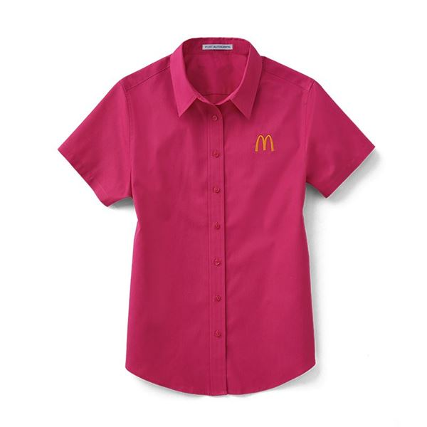 Picture of Ladies' Magenta Short Sleeve Button Down
