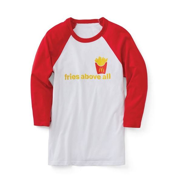 Picture of Fries Above All 3/4 Sleeve Tee