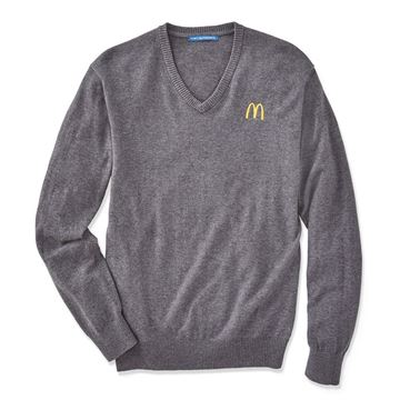 Picture of Mens' Grey V-Neck Sweater