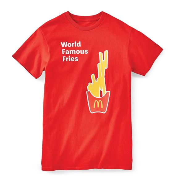 Picture of World Famous Fries Red Short Sleeve Tee